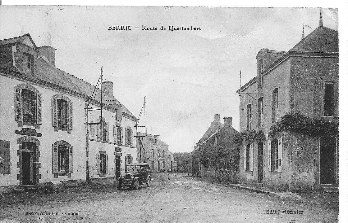 BERRIC - route de Questembert  1932